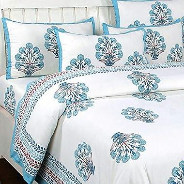 Generic Jyoti Textiles Special Hand Made 140 TC Cotton Flat Bedsheet