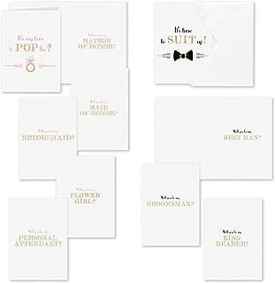 Hortense B. Hewitt Pop the Question Folded Card Set, Multicolor
