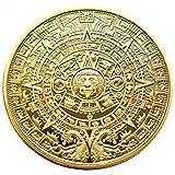 マヤ文明 アステカカレンダー コイン 直径40mm (ゴールド1色)