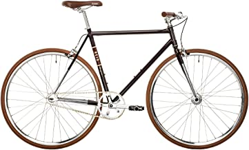 REID Unisex Adult Wayfarer Midnight Plum Singlespeeds and Fixies L Cruiser Bike - Black/Plum, 130 x 40 x 20
