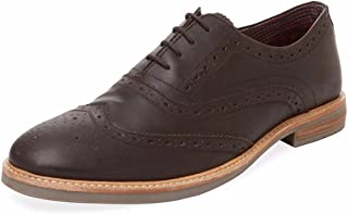 Ben Sherman Brent Brown Oil Wingtip Leather Oxfords Size Men's 8 (41)