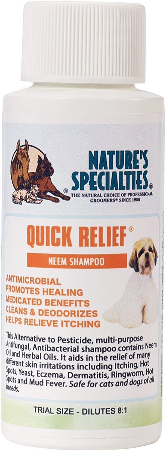Nature's Specialties Quick Relief Neem Shampoo for Pets, Trial Size