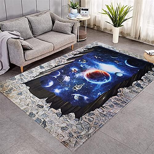 Tappeti 3D per soggiorno Zona notte Tappeti Tavolino Divano Tappetino antiscivolo Lavabile Casa Tappeto grande 152x244 cm 5