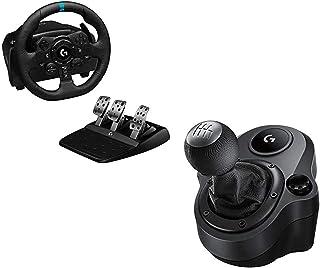 Logitech G923 Volante y Pedales de Carrera para Playstation PS4 y PC + G Driving Force Palanca de Cambio para Volantes de ...