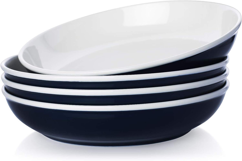Venlles Large Pasta Bowls Dinner Ceramic Plates Salad 45 Columbus Mall Direct sale of manufacturer