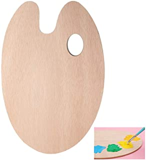 nuoshen Wooden Paint Palette, Paint Mixing Palette with