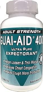 500 Guai-Aid® 400mg Guaifenesin Dye-Free Caplets -1 Bottle of 500 Round Scored Tablets