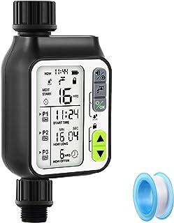 OneBom Water Timer Programmable, Digital Watering Timer 2nd Generation Upgraded,Sprinkler Hose Timer + Teflon Tape with 3 ...