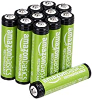 Amazon Basics 12-Pack AAA Performance 800 mAh Rechargeable Batteries, Pre-Charged, Recharge up to 1000x
