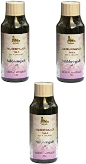 Neelibringadi Hair Oil - 100% USDA CERTIFIED ORGANIC - Ayurvedic Hair Massage Oil - 200ml (Pack of 3) - EXPEDITED DELIVERY