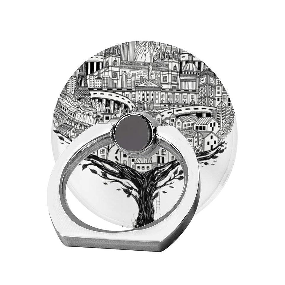 想像する不定一目スマホリング 携帯リング 指リング 薄型 落下防止 スタンド機能 世界中の旅 バンカーリング 指輪リング タブレット/各種他対応 360回転 スマホブラケット