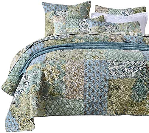 MaiuFun Cotton Bedspread Quilt S...