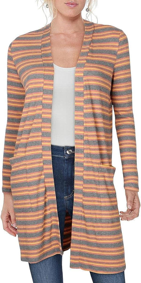 Hippie Rose Womens Juniors Duster Striped Cardigan Sweater