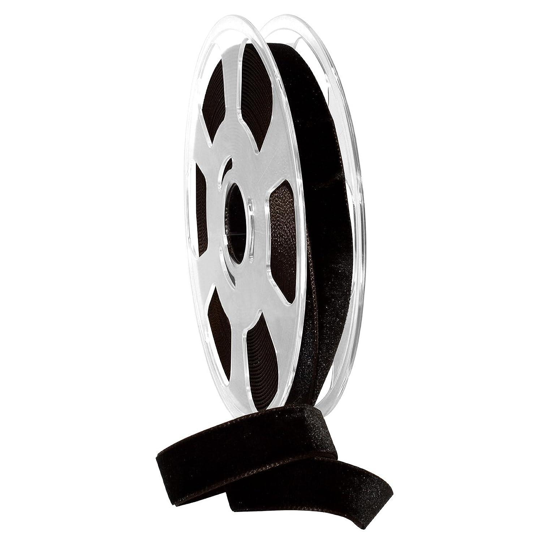 Morex Ribbon Nylvalour Velvet Ribbon, Nylon, 5/8 inch by 11 Yards, Black Coffee, Item 01215/10-985, 5/8