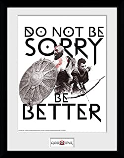 iPosters God of War Don't Be Sorry - Mounted & Framed Print - 44 x 34 cm (Approx 18 x 14 Inches)