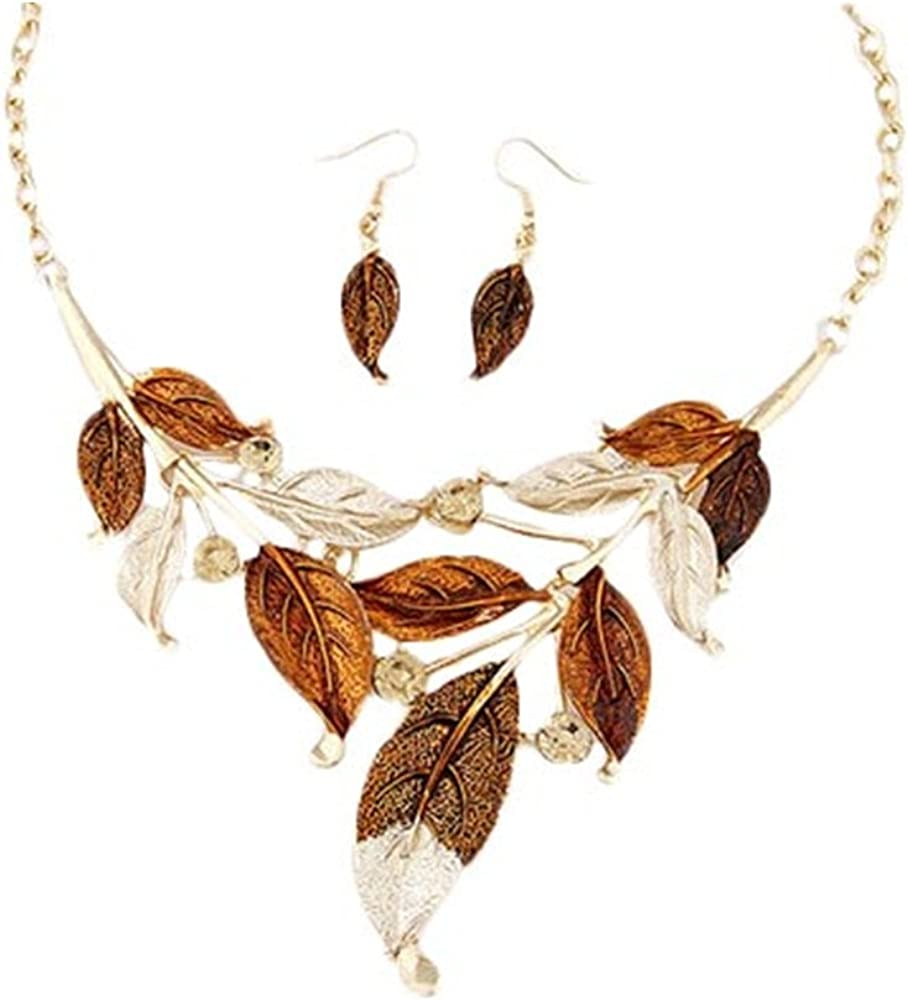 ZaH Boho Jewelry Set Pentant Necklace and Earrings for Women Girls Vintage Gift Wedding Party
