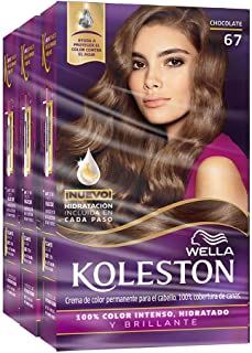 Wella Koleston Coloracion Permanente en Crema, color 67 Chocolate, 3 Piezas