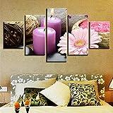 YJJPP Modulare Wandkunst HD gedruckt Poster 5 Stück rosa