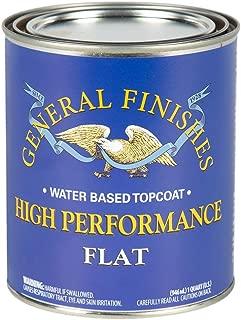 General Finishes QTHF High Performance Water Based Topcoat, 1 Quart, Flat