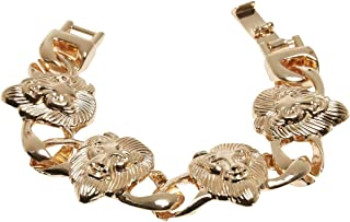 Lion - Pulsera (S/M), color dorado