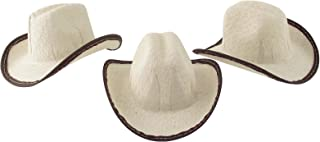 Mini Cowboy Hat, 2 inches Tall Size - 12 Pack (Beige) (12)
