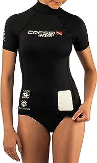 Cressi Women's Rash Guard Lady Black Dive Center Women's Rash Guard Short Sleeve