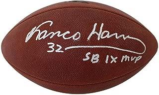 Franco Harris Signed Ball - SB IX MVP BAS 24910 - Beckett Authentication - Autographed Footballs