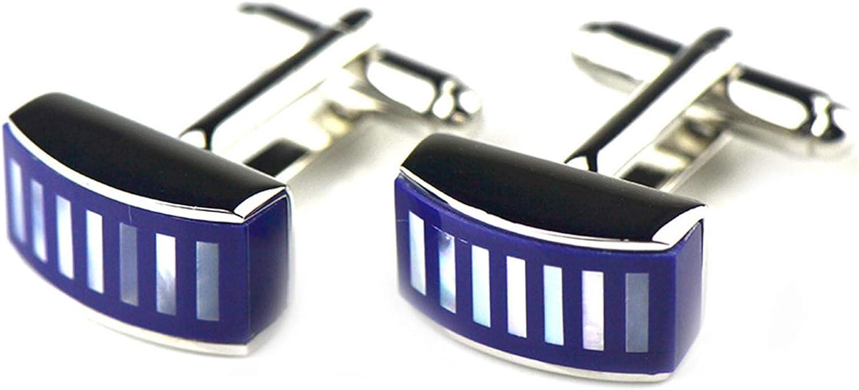 Daesar Copper Cufflinks for Men Cufflink Shirt Men Rectangular/Square Opal Inlay Cufflink Sets Royal Blue/Blue/Grey/Purple/Black Blue/Red