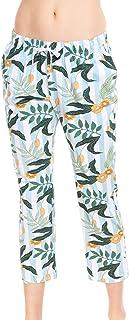 Rösch Be Happy! 1212036-16420 Women's Flower Stripe Cotton Pyjama Pant