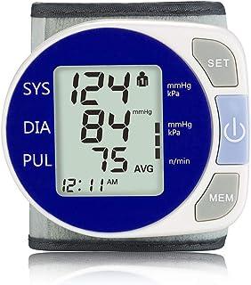 AFANG Automatic Blood Pressure Monitor, Wrist Sphygmomanometer LCD Digital Display Household Use Measuring Pulse Rate, 2 U...