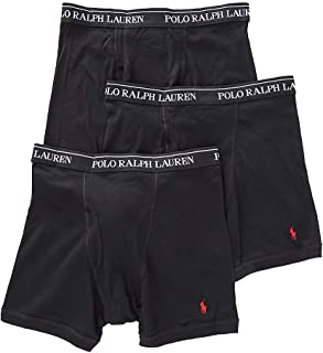 Polo Ralph Lauren Classic Fit Boxer Briefs with Moisture Wicking, 100% Cotton - 3 Pack (S, 3Black)