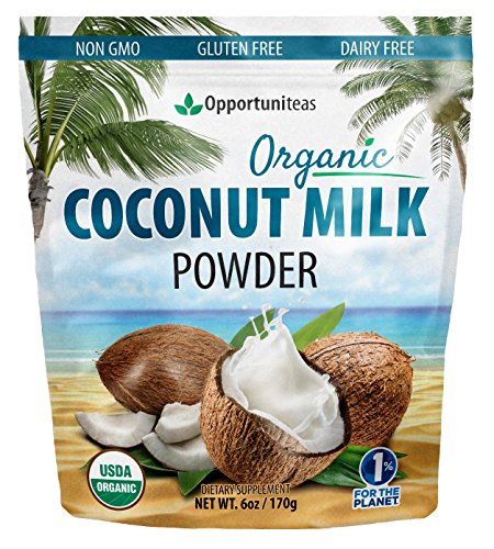Coconut Milk Powder Organic - Non Dairy Vegan Creamer For Coffee, Tea, Smoothies, Yogurt, Baking & Cooking - Pure, Full Fat & Unsweetened For Keto & Paleo Diet - Dried & Powdered at a Low Temperature