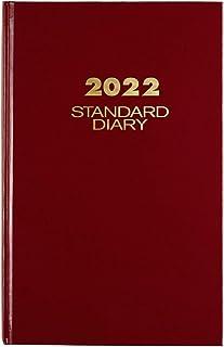"""دفتر خاطرات 2022 توسط AT-A-GLANCE ، دفتر خاطرات روزانه استاندارد ، 7-3 / 4 """"x 12"""" ، بزرگ ، قرمز (SD37613)"""