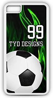 iPhone Tough Case Fits Models 6s or 6 Create Your Own Soccer SC1011 with Player Jersey Number and/Or Name Or Team Name Customizable by TYD Designs in Tough White