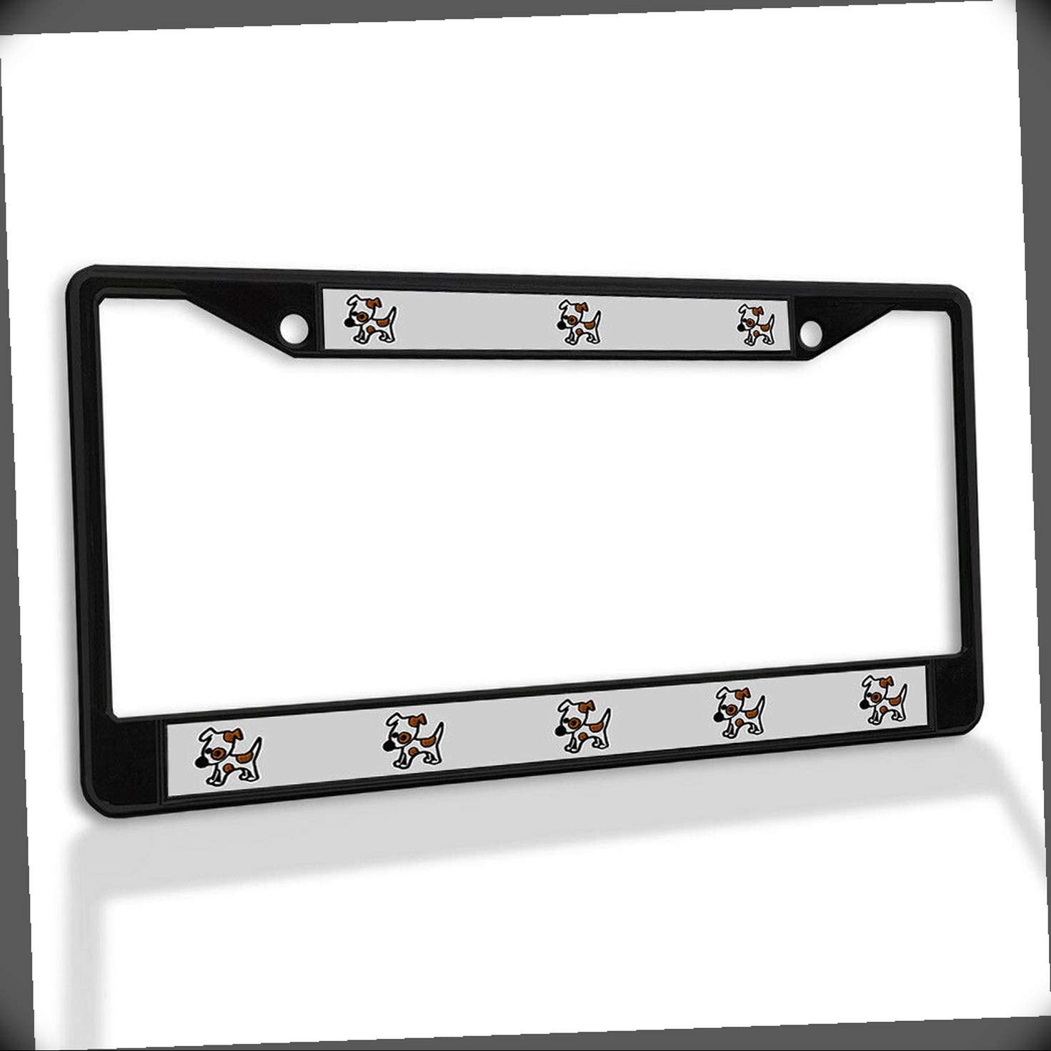New License Plate Frame 5% Max 48% OFF OFF Jack Russell Meta Dog Puppy Terrier Cute
