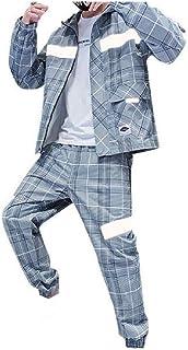 HEFASDM Mens Overcoat Hoode Sports 2 Piece Set Hoodie Sweatpants Set