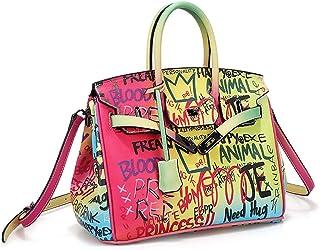 Colorful Crossbody Bag Shoulder Bag Dating Messenger Bag Handbag Colorful Graffiti for Girls Women (Shoulderbag-Larger)