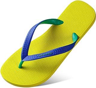 GLJJQMY Flip-Flop Fashion Outdoor Men's Slippers Summer Non-Slip Yellow Beach Shoes flip Flop (Color : Yellow, Size : 45)