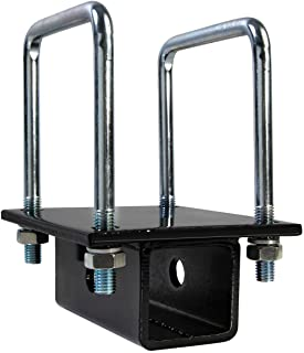 OxGord RV Bumper Bike Rack Carrier Receiver Adapter for 4 Square RV Bumpers Rust