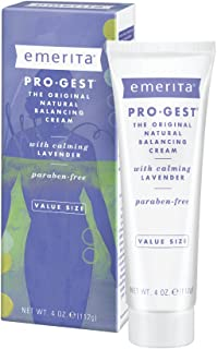 Emerita Pro-Gest Balancing Cream with Lavender | USP Progesterone Cream from Wild Yam for Optimal Balance at Midlife | 4 oz
