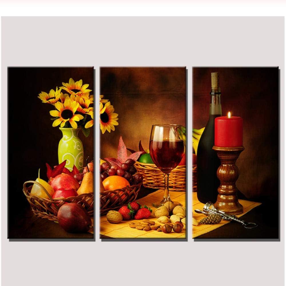 Ytsmsyy Wall Fashion Art Canvas Oil Painting Decora Flower Wine Cup Popular popular