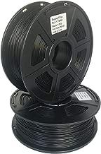 Superfila PLA 3D Printer Filament for Ender 3/Ender 3 Pro, Dimensional Accuracy +/- 0.03 mm, 1 kg Per Spool, 1.75 mm, 2 Spools,Black+Black
