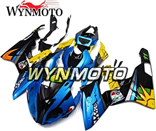 WYNMOTO ABS Plastic Injection Complete Motorcycle Fairings For BMW S1000RR Year 2015 2016 Shark Blue Yellow Cowlings