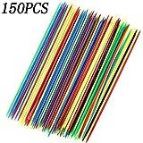 150PCS Plastic Mini Colorful Thin Pick Up Sticks for Fun Family Parent-Child Games 6.3Inch Long