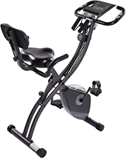 MaxKare Exercise Bike Stationary Foldable Magnetic Upright Recumbent Cycling 3 in One Exercise Bike with Arm Resistance Bands Perfect for Men and Women at Home