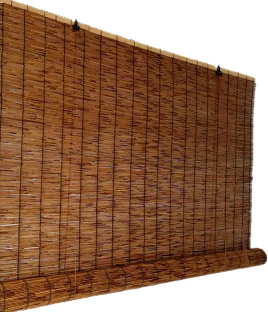 Zlovne Carbonization Reed Curtain Roman 入荷予定 人気の定番 Blinds Window Nat Louver