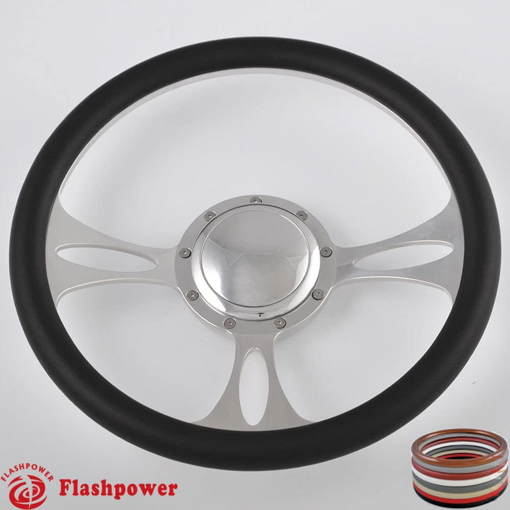 Flashpower 14'' Billet Half Wrap 9 with Bolts Steering Memphis Mall Wheel Ranking TOP2 2''