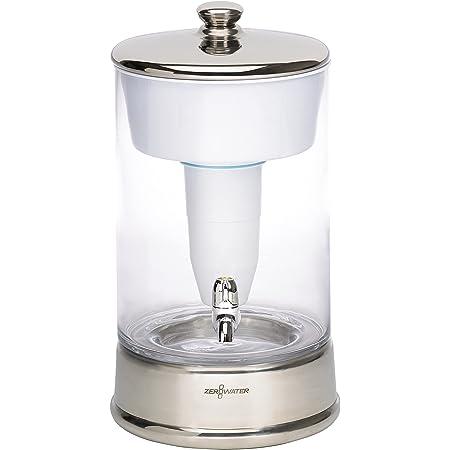 ZeroWater Système de Filtration d'eau en Verre 9L, avec Indicateur de qualité d'eau Gratuit, sans BPA, et certifié pour réduire Le Plomb et Les Autres métaux Lourds, Cartouche de Filtre à Eau Incluse