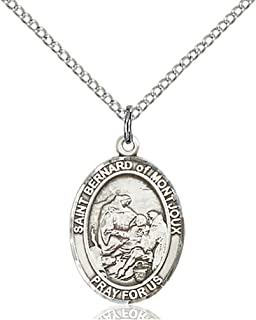 Sterling Silver St. Bernard of Montjoux Pendant with 18