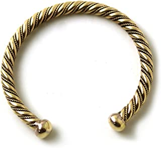 LynnAround Bronze Norse Viking Spiral Twisted Cable Bangle Cuff Bracelet Arm Ring Jewelry